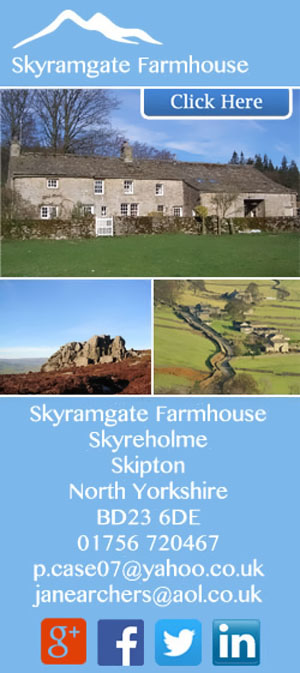 skyramgate Farmhouse bed and breakfast Skyreholme way of the roses yorkshire dales