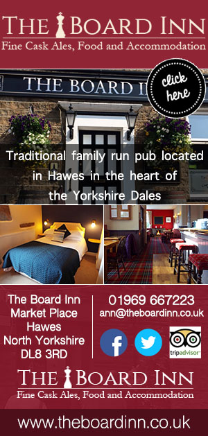 The Board Inn Hawes pub accommodation food drink stay
