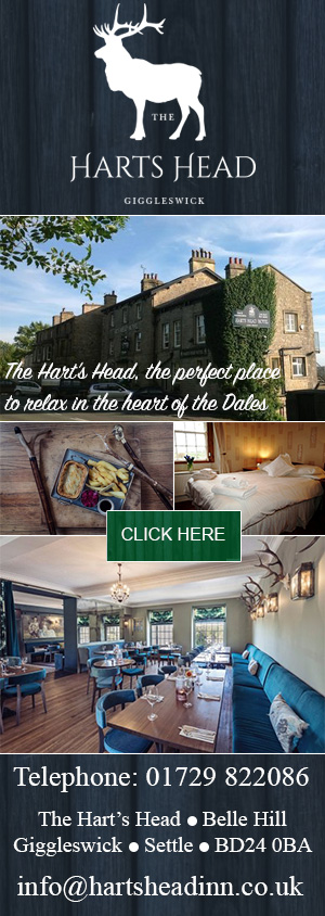 The Harts Head, Giggleswick, Yorkshire dales, accommodation, food, drink