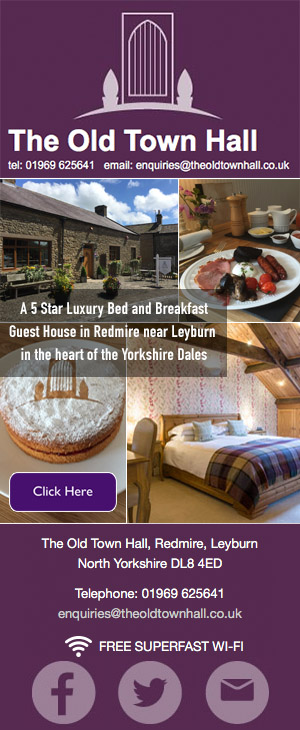 The Old Town Hall Redmyre bed and breakfast yorkshire dales